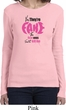 Ladies Breast Cancer Shirt Yes, They're Fake Long Sleeve Tee T-Shirt