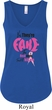 Ladies Breast Cancer Tanktop Yes, They're Fake Flowy V-neck Tank Top