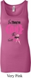 Ladies Breast Cancer Tanktop Yes, They're Fake Longer Length Tank Top