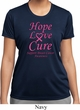 Ladies Breast Cancer Tee Hope Love Cure Dry Wicking T-shirt