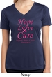 Ladies Breast Cancer Tee Hope Love Cure Dry Wicking V-neck
