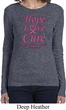 Ladies Breast Cancer Tee Hope Love Cure Long Sleeve