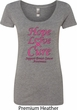 Ladies Breast Cancer Tee Hope Love Cure Scoop Neck