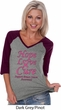 Ladies Breast Cancer Tee Hope Love Cure V-neck Raglan