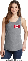 Ladies Canada Tank Top Canadian Flag Pocket Print Tanktop