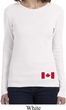 Ladies Canada Tee Canadian Flag Bottom Print Long Sleeve
