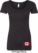 Ladies Canada Tee Canadian Flag Bottom Print Scoop Neck