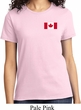 Ladies Canada Tee Canadian Flag Pocket Print T-shirt