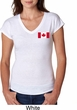 Ladies Canada Tee Canadian Flag Pocket Print Tri Blend V-neck