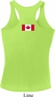 Ladies Canadian Flag Back Print Dry Wicking Racerback