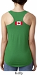 Ladies Canadian Flag Back Print Ideal Racerback