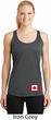 Ladies Canadian Flag Bottom Print Dry Wicking Racerback