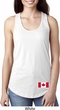 Ladies Canadian Flag Bottom Print Ideal Racerback