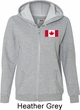 Ladies Canadian Flag Pocket Print Full Zip Hoodie