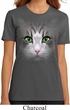 Ladies Cat Shirt Big Cat Face Organic T-Shirt