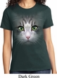 Ladies Cat Shirt Big Cat Face Tee T-Shirt