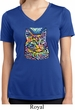 Ladies Cat Shirt Love Cat Moisture Wicking V-neck