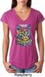 Ladies Cat Shirt Love Cat Tri Blend V-neck