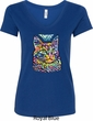 Ladies Cat Shirt Love Cat V-Neck Shirt