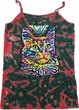Ladies Cat Tank Top Love Cat Tie Dye Camisole Tank Top