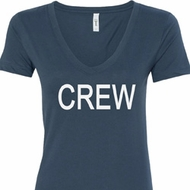 Ladies Crew V-neck Shirt