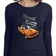 Ladies Dodge 1970 Plymouth Hemi Cuda Long Sleeve Shirt