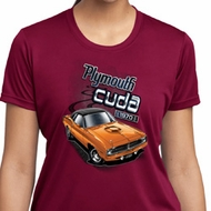 Ladies Dodge 1970 Plymouth Hemi Cuda Moisture Wicking Shirt