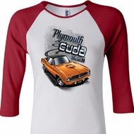 Ladies Dodge 1970 Plymouth Hemi Cuda Raglan Shirt