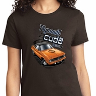 Ladies Dodge 1970 Plymouth Hemi Cuda Shirt