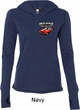Ladies Dodge American Made Muscle Pocket Print Tri Blend Hoodie Shirt