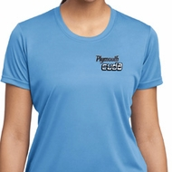 Ladies Dodge Plymouth Cuda Pocket Print Moisture Wicking Shirt