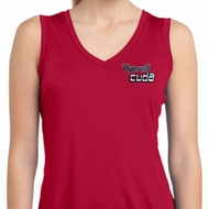 Ladies Dodge Plymouth Cuda Pocket Print Sleeveless Dry Wicking Shirt