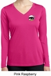 Ladies Dodge Scat Pack Logo Pocket Print Dry Wicking Long Sleeve Shirt