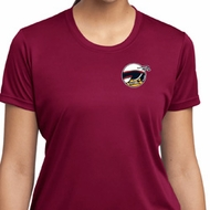 Ladies Dodge Scat Pack Logo Pocket Print Moisture Wicking Shirt