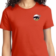 Ladies Dodge Scat Pack Logo Pocket Print Shirt