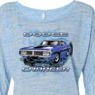 Ladies Dodge Shirt Blue Dodge Charger Off Shoulder Tee T-Shirt
