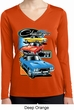Ladies Dodge Shirt Challenger Trio Dry Wicking Long Sleeve Tee T-Shirt