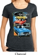 Ladies Dodge Shirt Challenger Trio Lace Back Tee T-Shirt