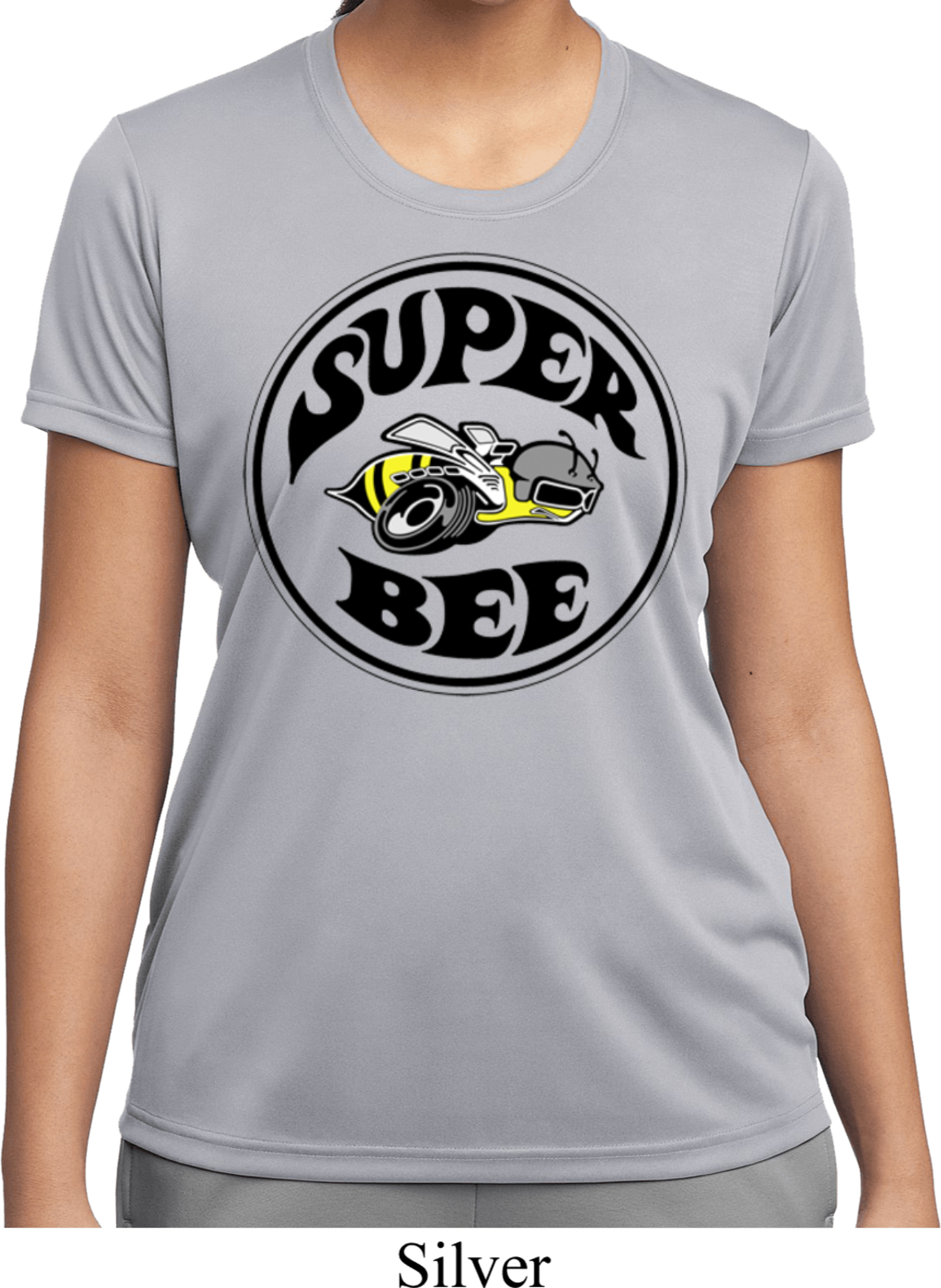 Ladies dodge shirt super bee moisture wicking tee t shirt for Sweat wicking t shirts