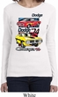 Ladies Dodge Shirt Vintage Chargers Long Sleeve Tee T-Shirt