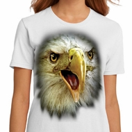 Ladies Eagle Shirt Big Eagle Face Organic T-Shirt