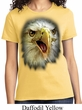 Ladies Eagle Shirt Big Eagle Face Tee T-Shirt