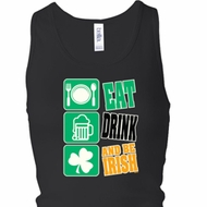 Ladies Eat Drink Be Irish Longer Length Racerback Tank Top