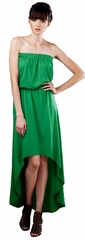 Ladies Eco-Hybrid Strapless Hi-Low Dress - Made in the USA