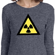 Ladies Fallout Shirt Radioactive Triangle Long Sleeve Tee T-Shirt