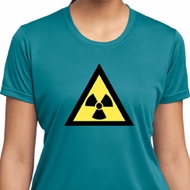 Ladies Fallout Shirt Radioactive Triangle Moisture Wicking Tee T-Shirt