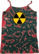 Ladies Fallout Tanktop Radiation Symbol Tie Dye Camisole Tank Top