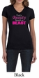 Ladies Fitness Shirt Every Beauty Needs a Beast V-neck Tee T-Shirt
