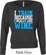 Ladies Fitness Shirt I Train For Wine Off Shoulder Tee T-Shirt