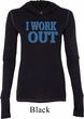 Ladies Fitness Shirt I Work Out Tri Blend Hoodie Tee T-Shirt